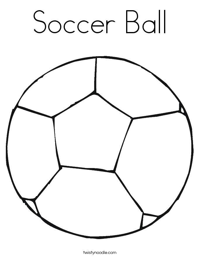 Раскраска Футбольный мяч Скачать футбольный мяч.  Распечатать ,Футбол,