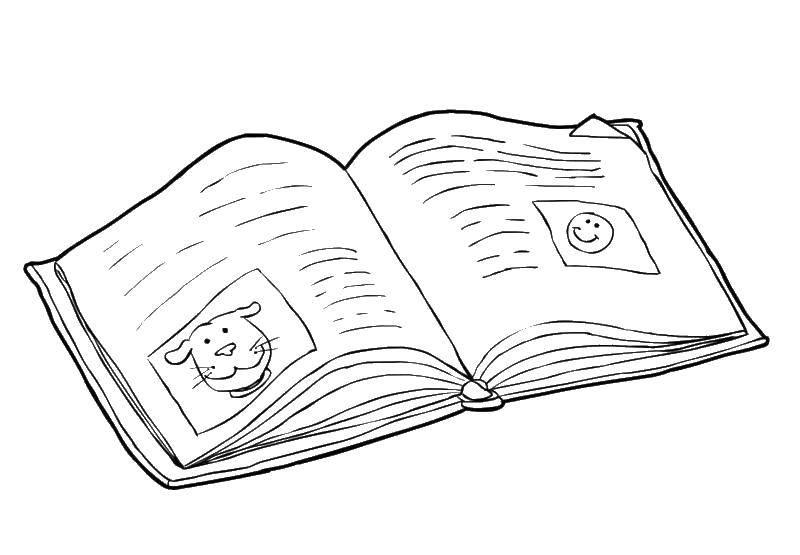Раскраска Картинки в книге Скачать книга.  Распечатать ,книга,