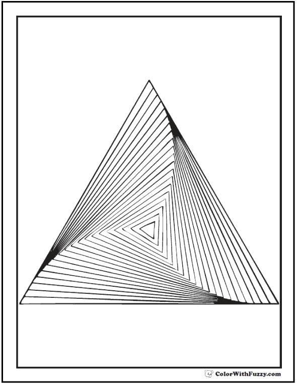 Раскраска Оптическая пирамида Скачать ,Узоры, геометрические,.  Распечатать