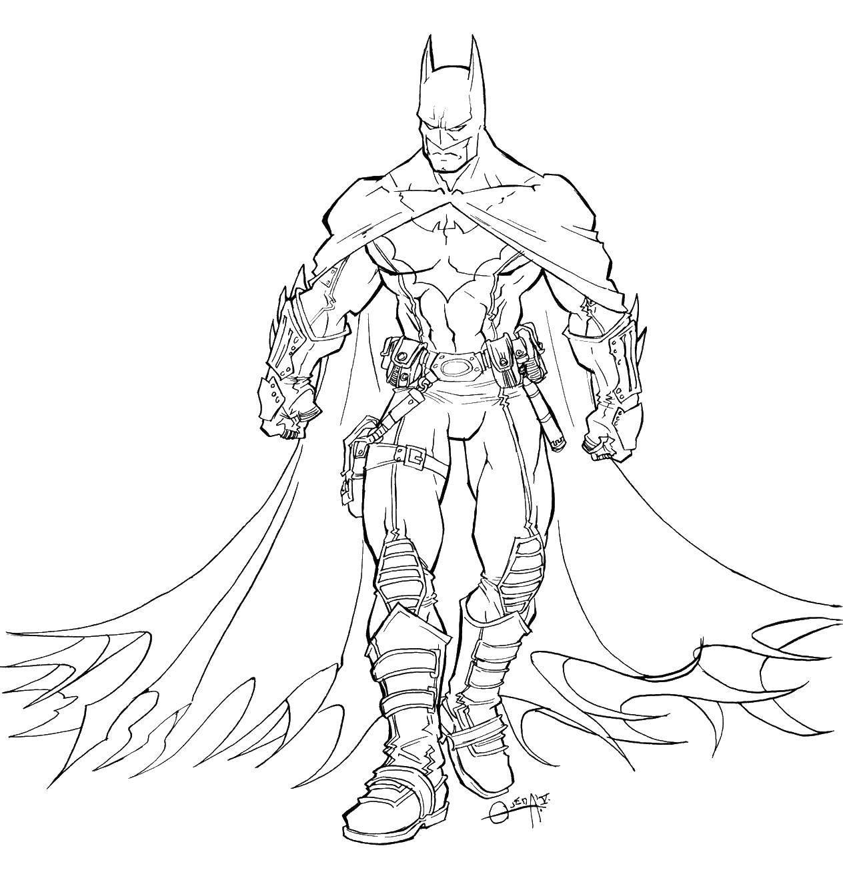 Название: Раскраска Бэтмен в плаще. Категория: супергерои. Теги: бэтмен, плащ, маска.