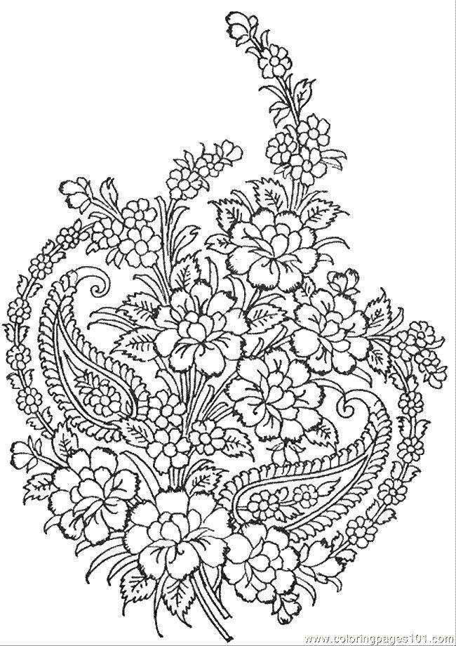 Раскраска С узорами Скачать ,узорчики, узоры, цветочки,.  Распечатать