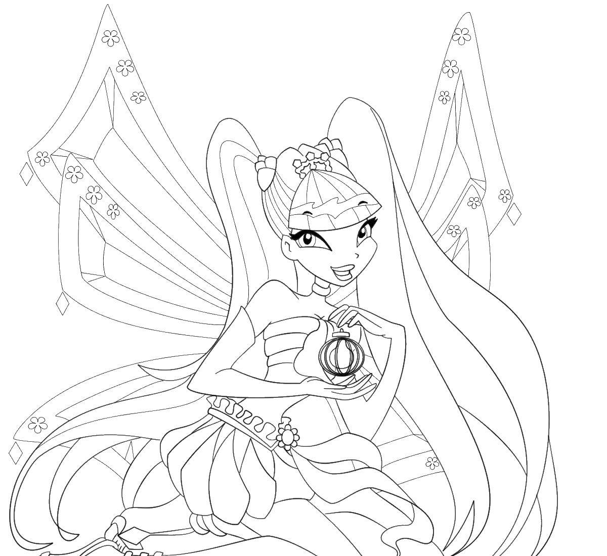 Online Coloring Pages Coloring Page Stella Winx Club Coloring