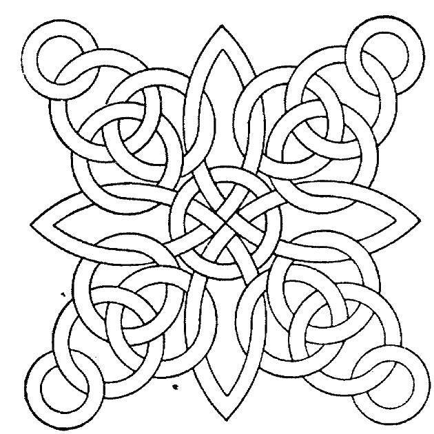 Раскраска С узорами Скачать ,узоры, кольца,.  Распечатать