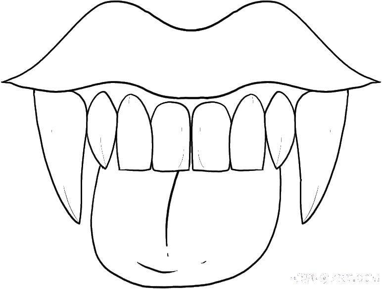 Раскраска Вампирши Скачать ,вампиры, клыки,.  Распечатать