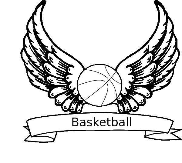 Раскраска Баскетбольный мяч Скачать баскетбол, спорт, мяч.  Распечатать ,баскетбол,