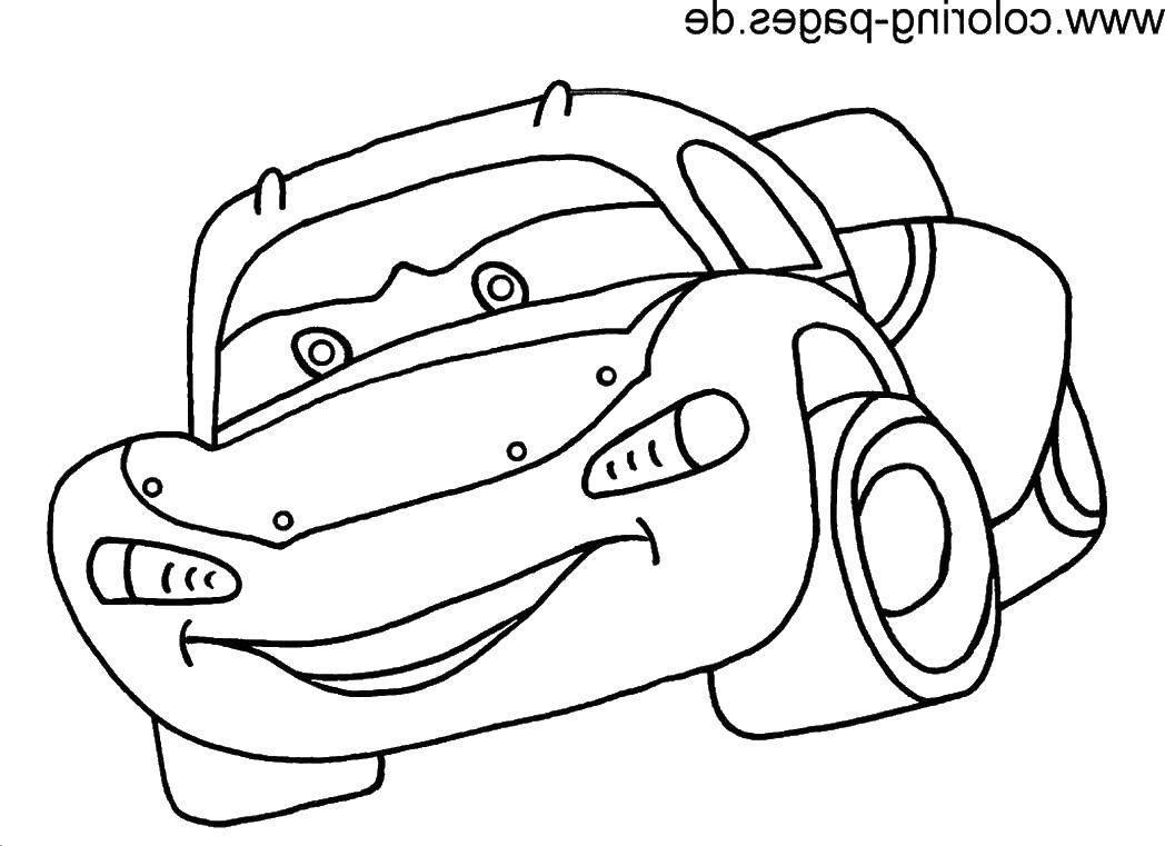 Раскраска Герой мультфильма тачки Скачать тачки, автомобиль, машина, мультики.  Распечатать ,Тачки,
