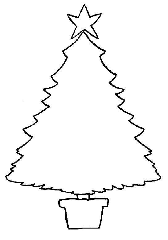 Раскраска Раскрась новогоднюю елку Скачать Рождество, елка, Новый год.  Распечатать ,новогодняя елка,