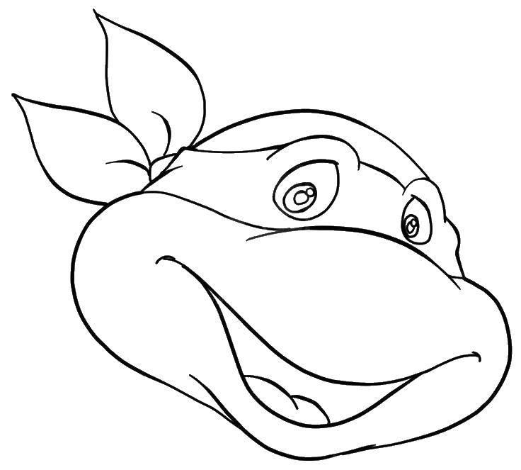 Название: Раскраска Маска черепашка ниндзя. Категория: Маски. Теги: маска, маски, черепашки ниндзя.