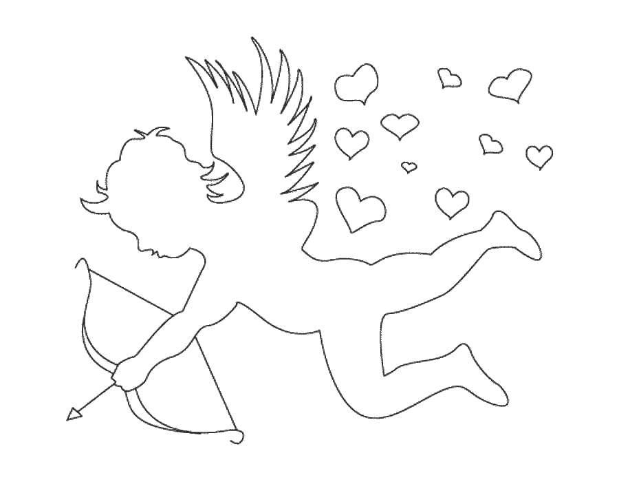 Раскраска День святого валентина Скачать .  Распечатать