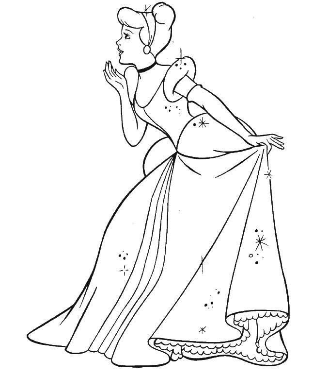 Раскраска Принцессы Скачать животные, заяй, ушки.  Распечатать ,Животные,