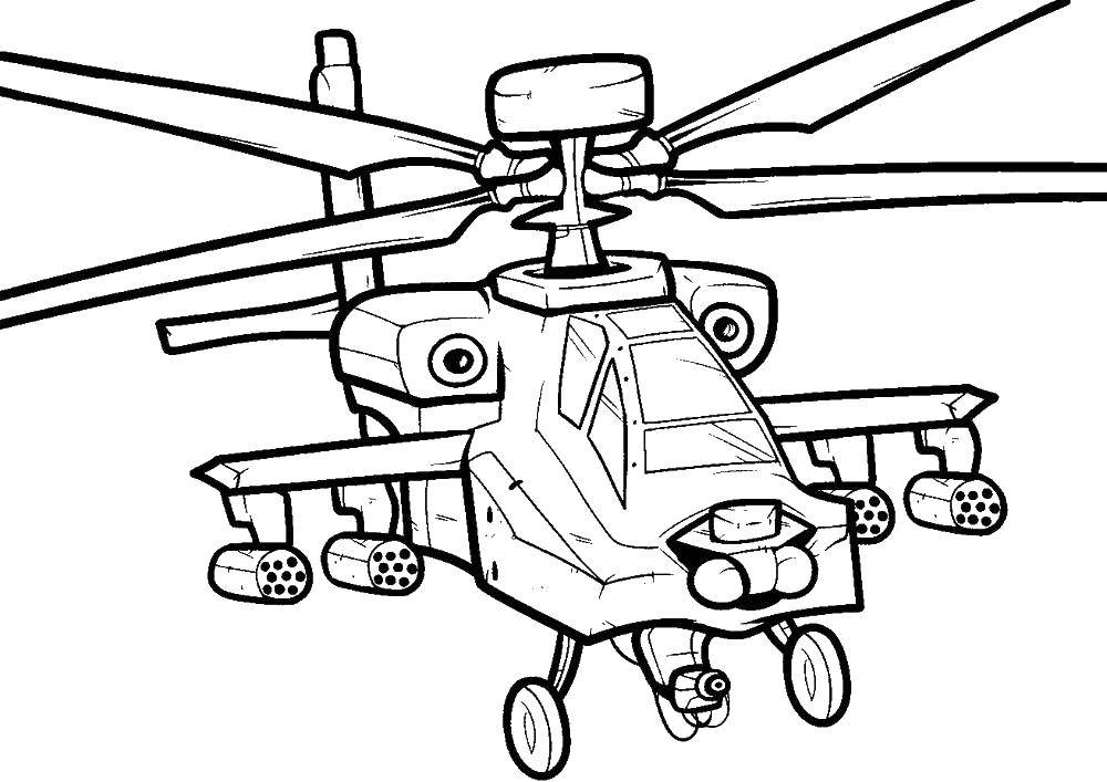 раскраски самолеты раскраска крупный вертолет самолеты