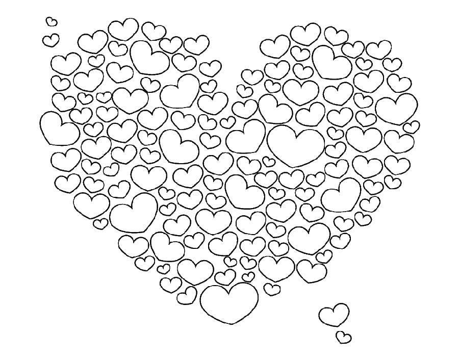 раскраски раскраска сердечки скачать распечатать раскраски
