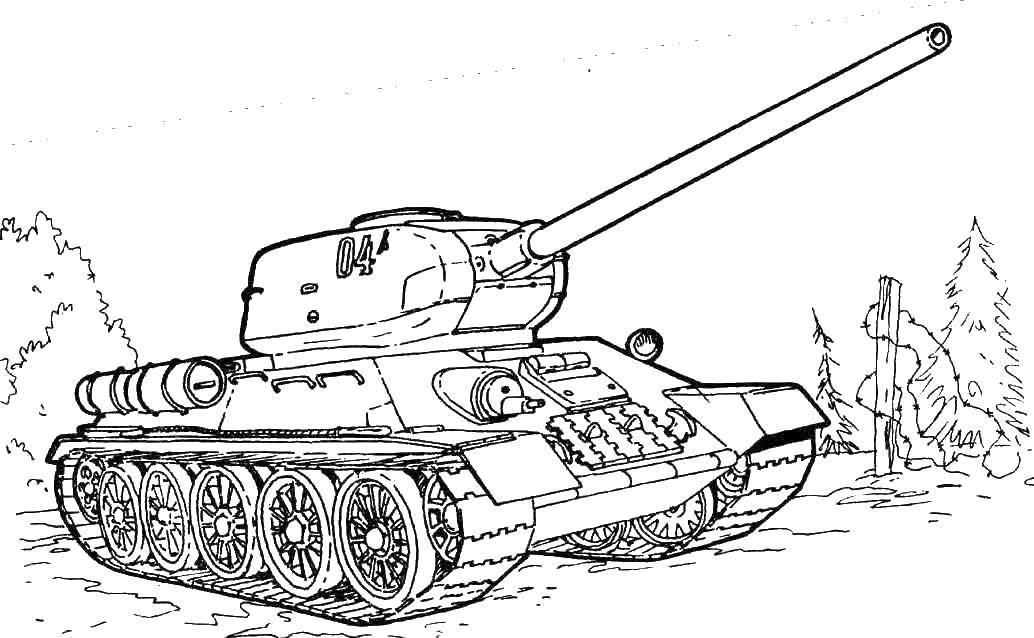 раскраски раскраска танк 04 танки скачать распечатать