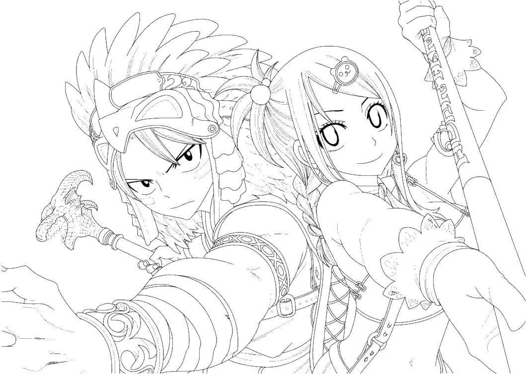 Раскраска Воины аниме Скачать воины, аниме.  Распечатать ,аниме,