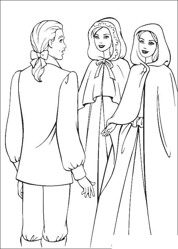 раскраски раскраска принцесса и нищенка скачать