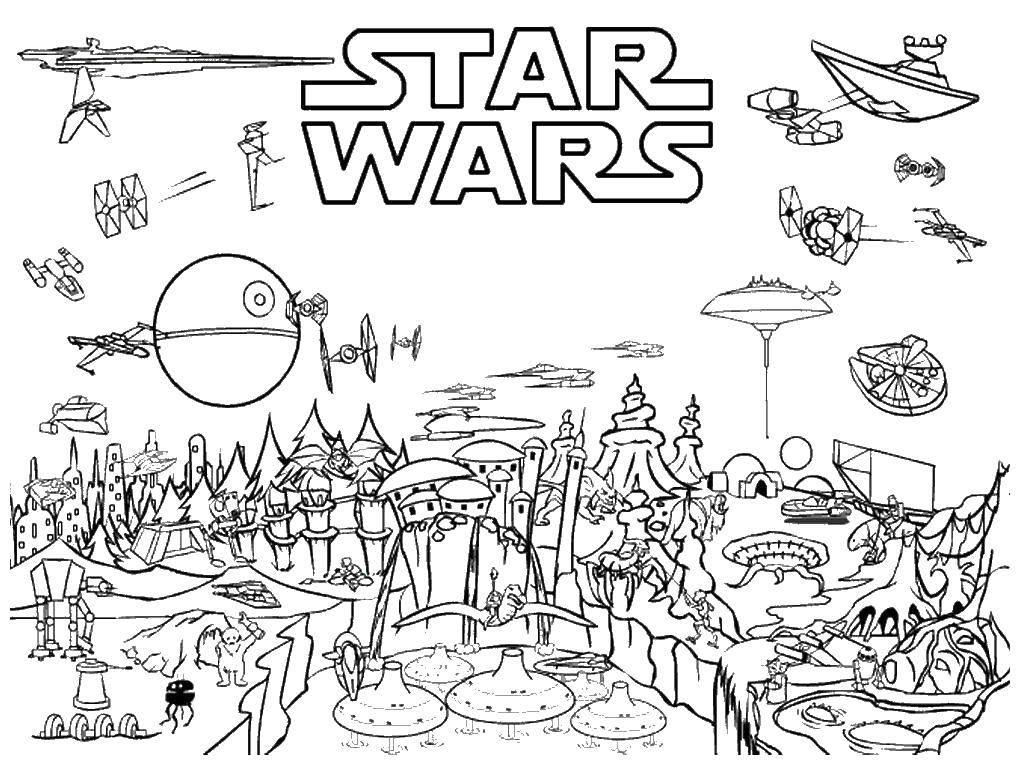 Раскраска Город лего звездные воины Скачать лего, ниндзя, .  Распечатать ,Лего,