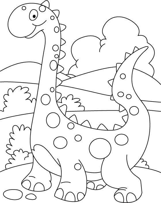 Раскраска Динозаврик в крапинку Скачать Динозавры.  Распечатать ,Раскраски для малышей,