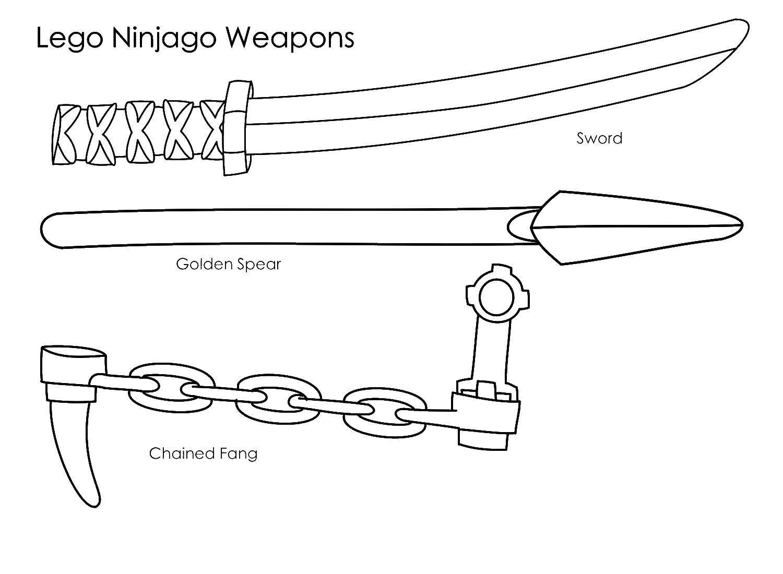 Раскраска Оружие лего ниндзяго Скачать оружие, лего.  Распечатать ,оружие,