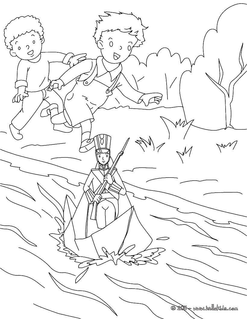 Название: Раскраска Дети. Категория: Сказки. Теги: сказки, дети, ручеек.
