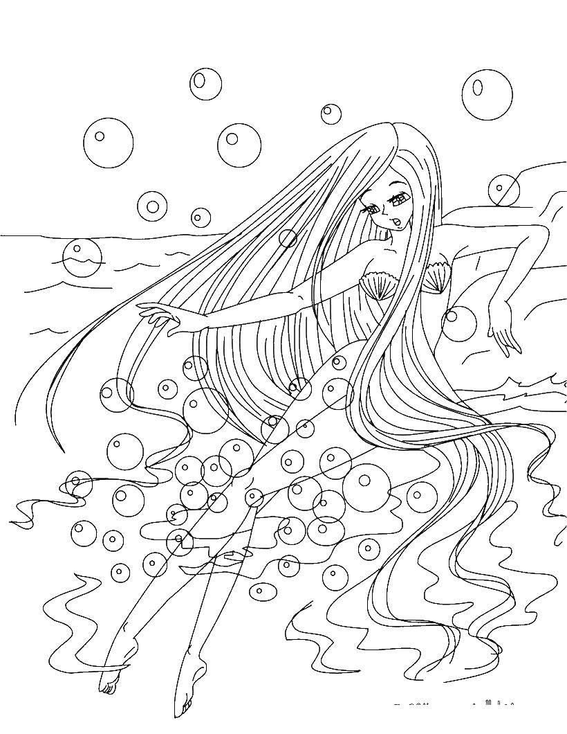 Раскраски русалка, Страница:10.