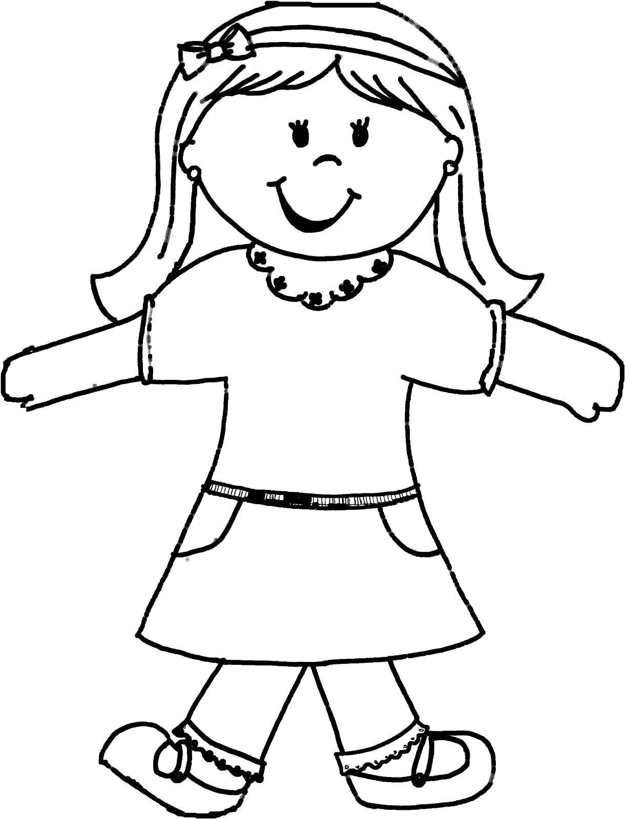 Раскраска Куклы Скачать .  Распечатать