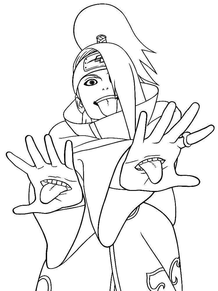 Раскраска Герой наруто Скачать аниме, Наруто.  Распечатать ,аниме,