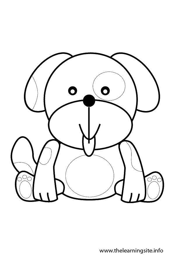 Раскраска Милый щеночек. Скачать собачки, щенки, песики.  Распечатать ,Животные,