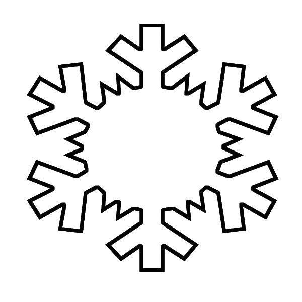 Раскраска Контур снежинки Скачать Алфавит, буквы, слова.  Распечатать ,азбука,