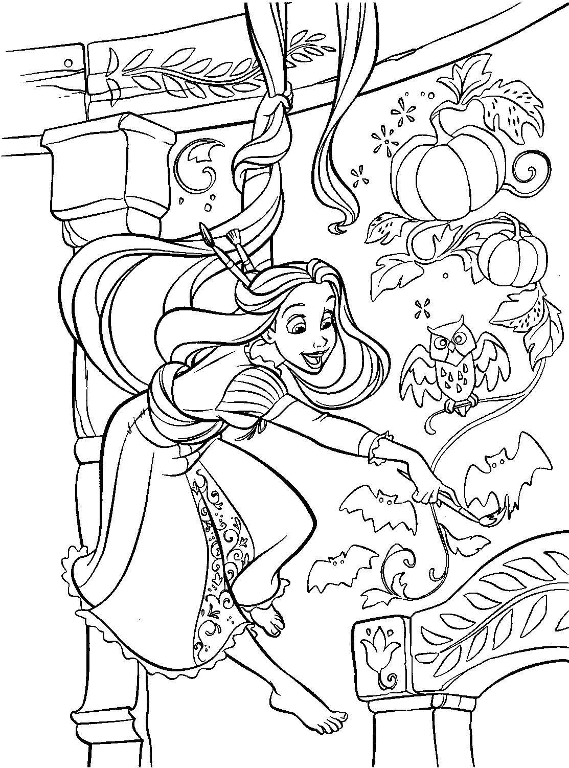 Раскраска  Скачать слоник, луг, цветок.  Распечатать ,Диснеевские раскраски,