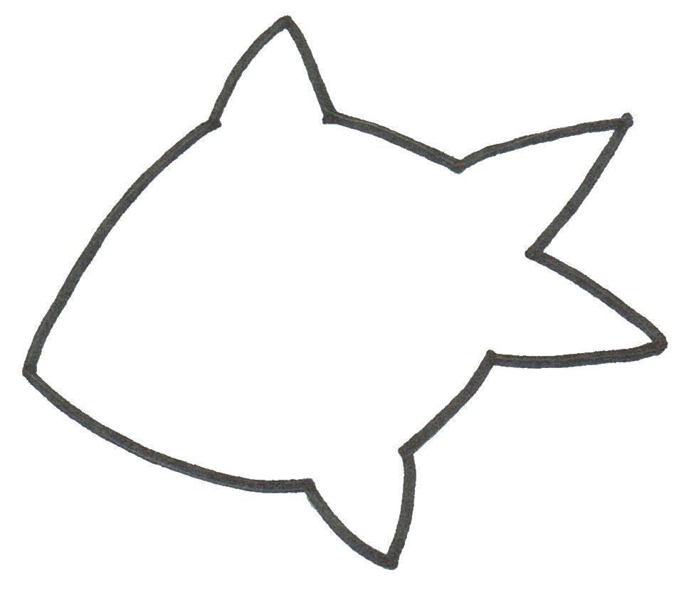 Раскраска Шаблон рыбки Скачать шаблоны для вырезания, рыбка, контуры.  Распечатать ,Шаблоны для вырезания,