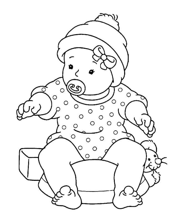 Раскраска малыши Скачать ,Малыш, ребенок, улыбка,.  Распечатать