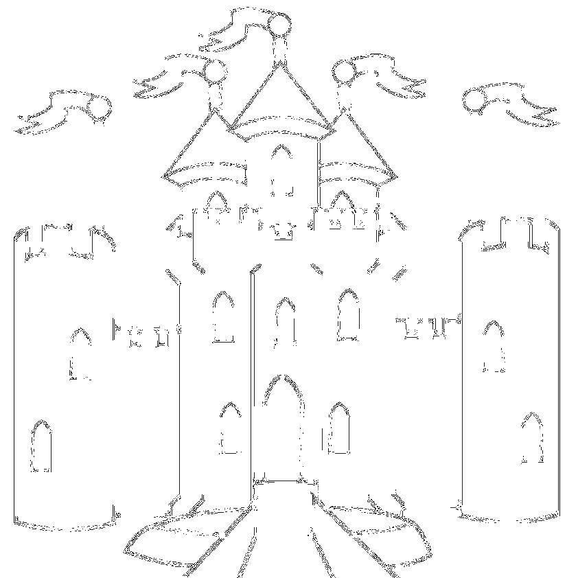 Раскраска замки Скачать ,Лабиринт, логика,.  Распечатать