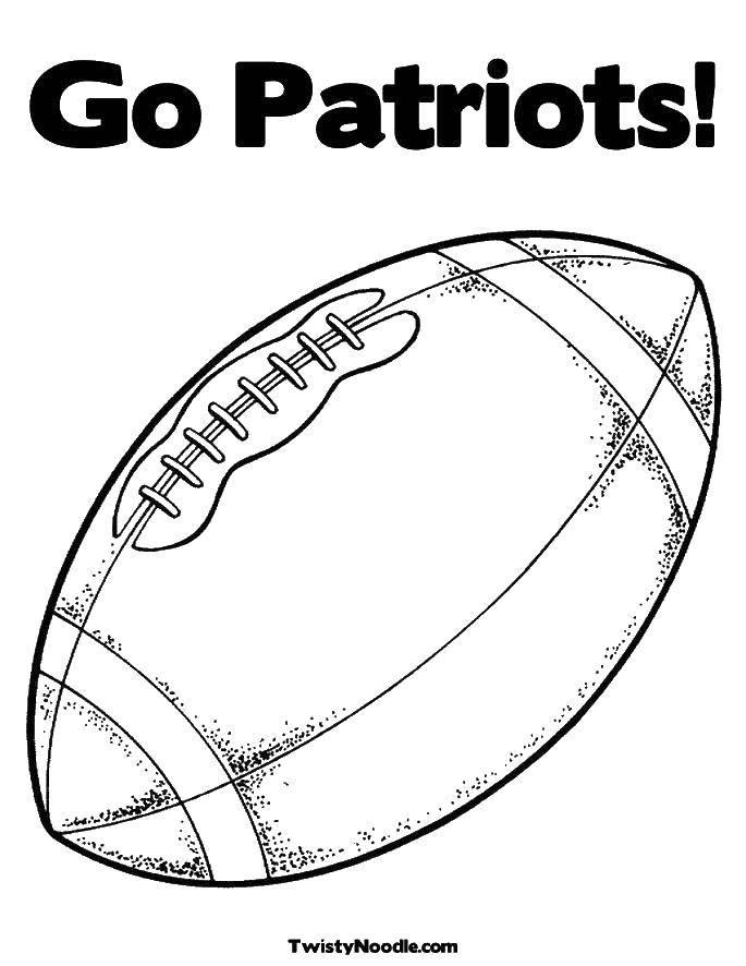 Раскраска Мяч для регби Скачать футбол, регби, мяч.  Распечатать ,Футбол,