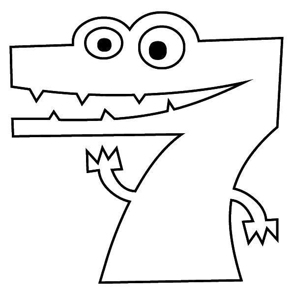 Раскраска Учимся считать Скачать ,Цифры, счёт, числа,.  Распечатать