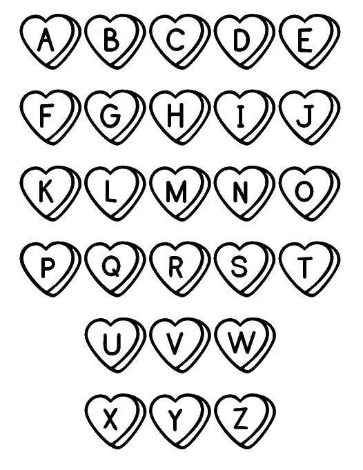 Раскраска Английский алфавит Скачать ноты, музыка.  Распечатать ,музыка,