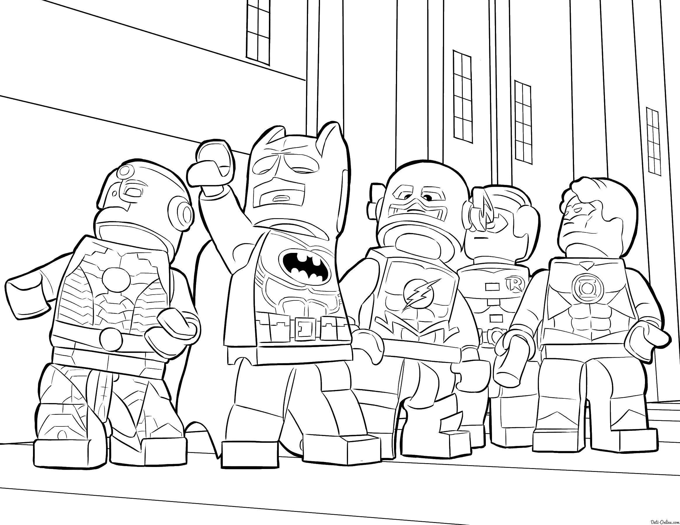 Раскраска Лего супергерои Скачать лего, супергерои.  Распечатать ,лего,