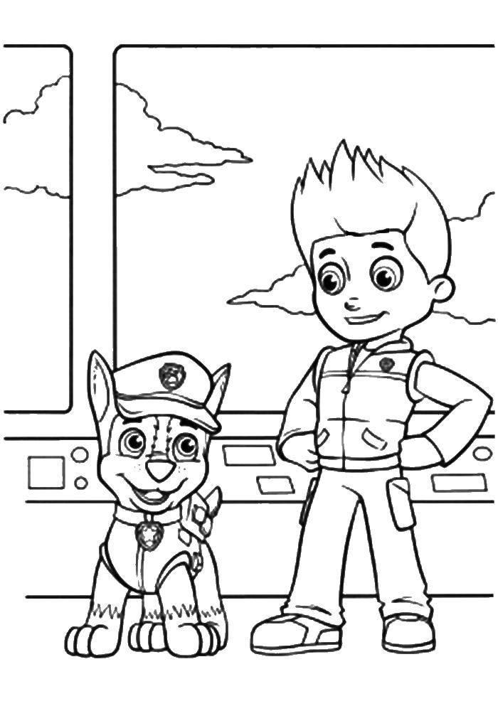 Раскраска Райдер Скачать щенячий патруль, мультфильмы, райдер.  Распечатать ,щенячий патруль,