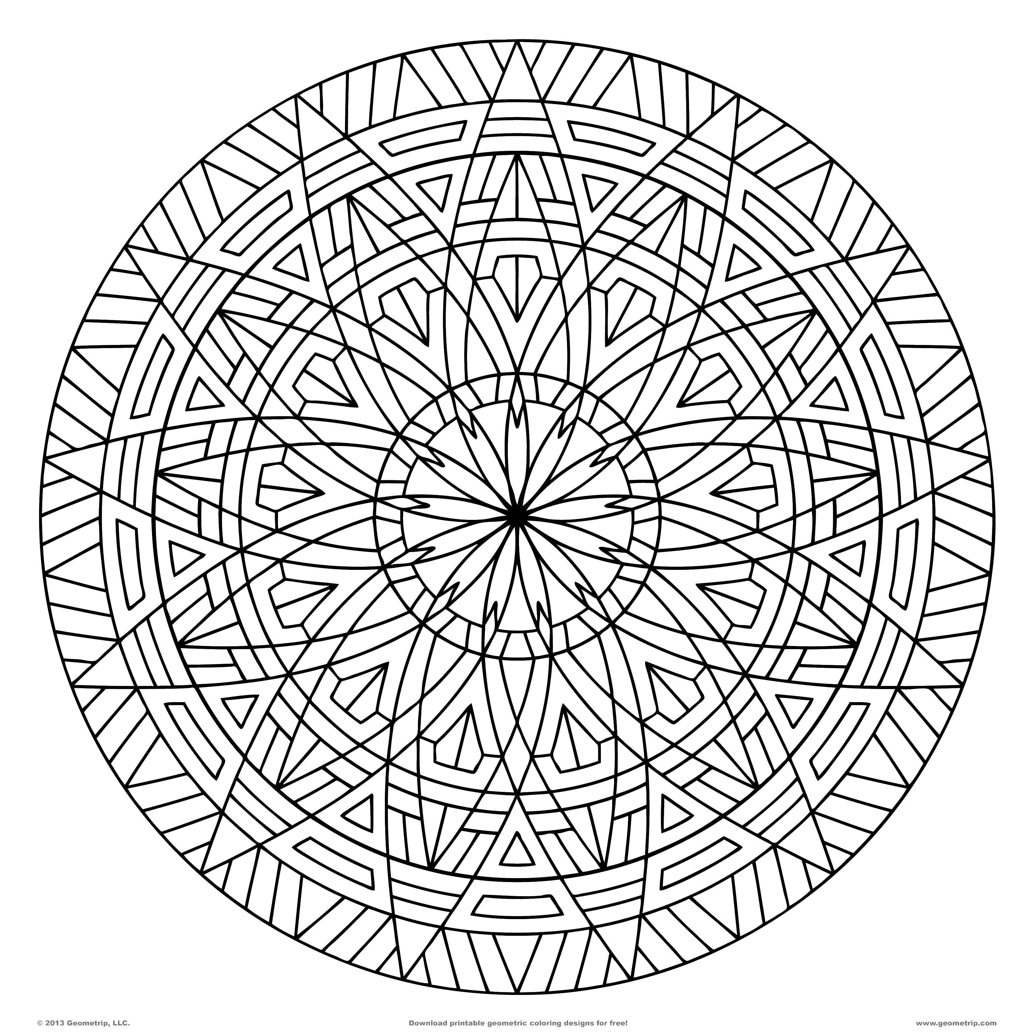 Раскраска Тарелка с цветочным узором Скачать Узоры, цветок.  Распечатать ,Узоры,