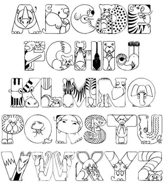Раскраска алфавит Скачать .  Распечатать