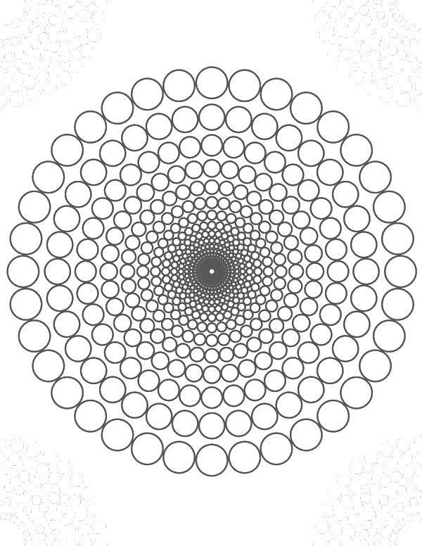 Раскраска Узоры с цветами Скачать ,Узоры, геометрические,.  Распечатать