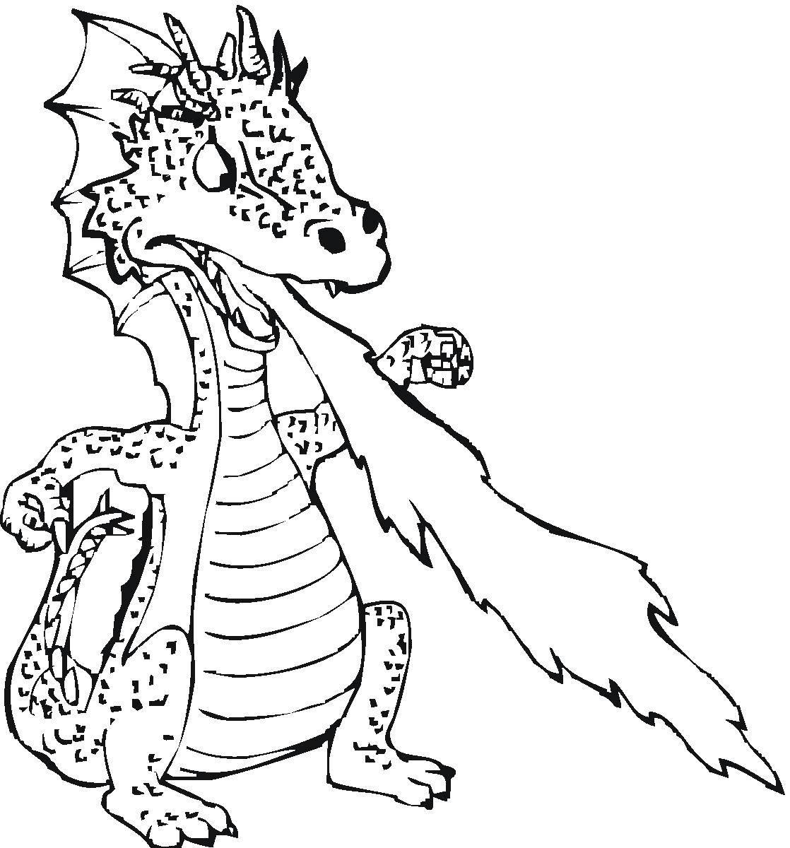 Название: Раскраска Огнедышащий дракончик. Категория: Драконы. Теги: драконы, огнедышащие.