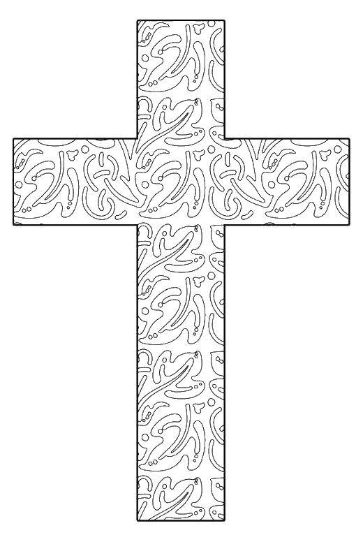 Раскраска раскраски крест Скачать ,гринч,.  Распечатать
