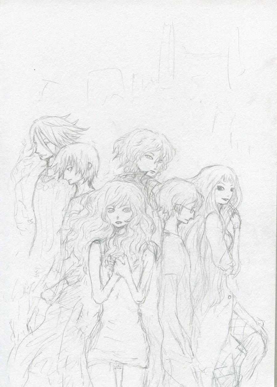 Раскраска Рисуем аниме людей Скачать аниме, девушка.  Распечатать ,аниме,