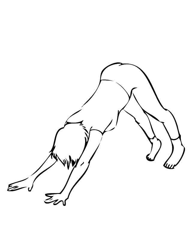 Раскраска Упражнения йоги. Скачать йога.  Распечатать ,йога,