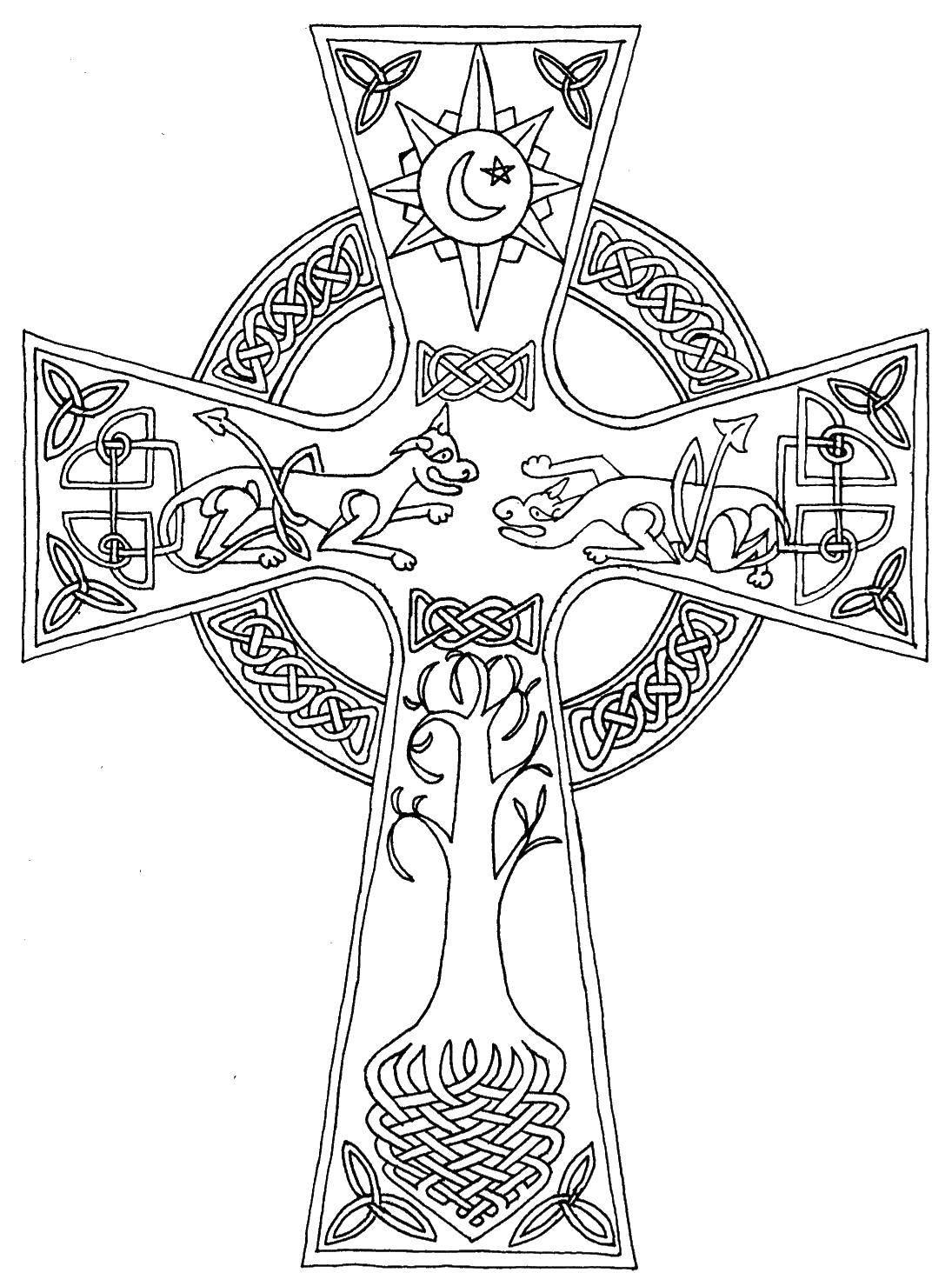 Раскраска раскраски крест Скачать ,маска, крот,.  Распечатать