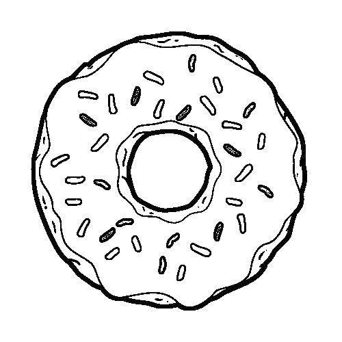 раскраски раскраска пончик сладости скачать распечатать