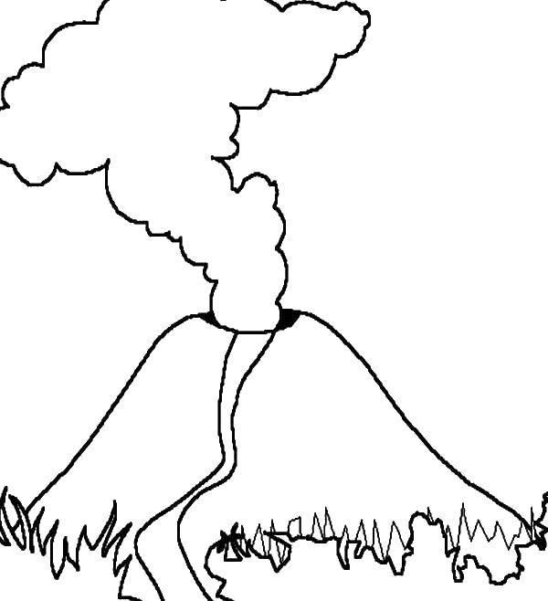 Раскраска Вулкан Скачать кролики, горка, бассейн, купальники.  Распечатать ,Найди предметы,