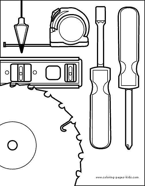 Раскраска Инструменты Скачать строительные инструменты.  Распечатать ,инструменты,