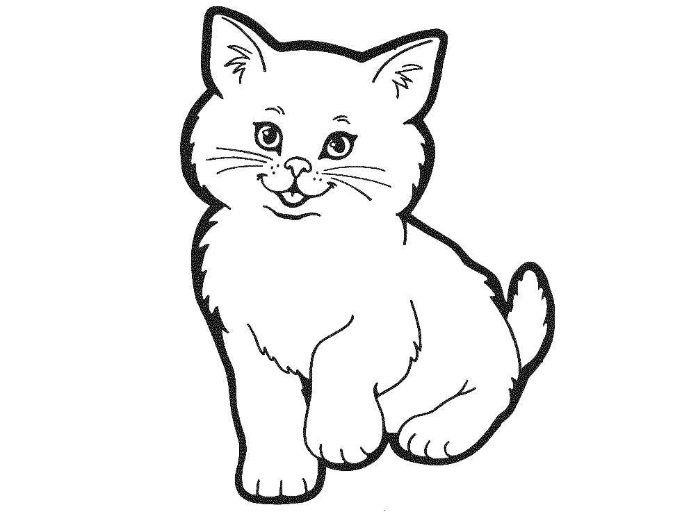 Раскраска Коты и котята Скачать Птицы.  Распечатать ,Контуры для вырезания птиц,