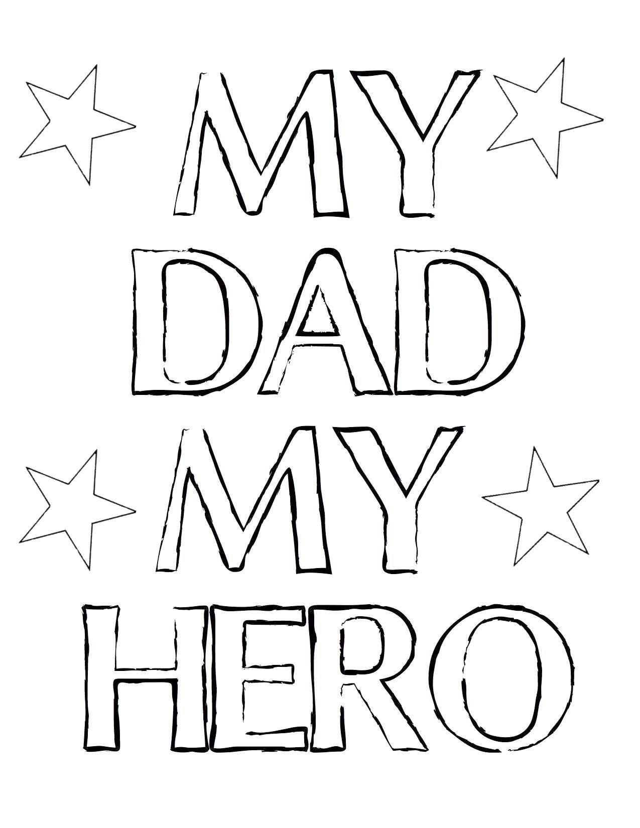 Раскраска Мой папа мой герой!. Скачать Признание, любовь, сердце.  Распечатать ,Я тебя люблю,